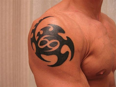 cancer zodiac tattoos for men cool cancer zodiac design on shoulder for