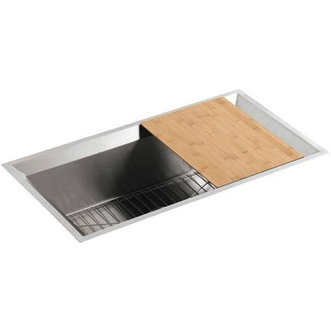 kohler poise undermount stainless steel 33 in single