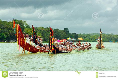 dream boat race snake boat races of kerala editorial photo image 34641701