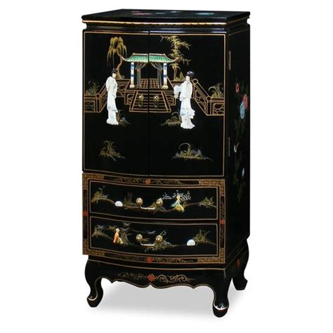 oriental jewelry armoire black lacquer jewelry armoire jewelry jewelry armoire