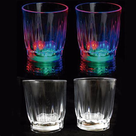 light up drinking glasses party city 4 pcs multi color flashing led light up shot glasses drink