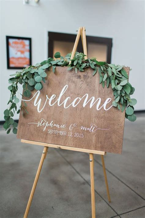 Handmade Sign Ideas - 25 best ideas about wedding welcome signs on