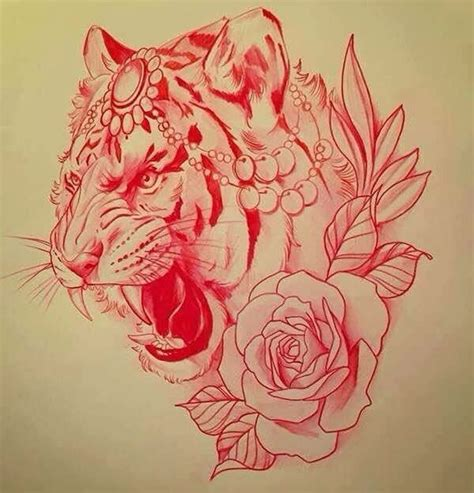 tiger and roses tattoo designs best 25 traditional tiger ideas that you will like