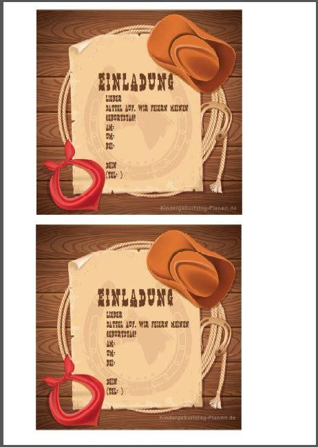 einladung cowboy geburtstag geburtstags einladungen