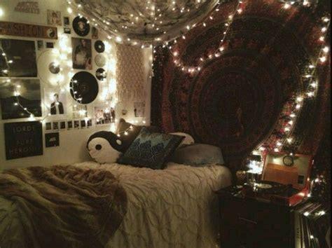 indie bedroom fairy lights teen girl tapestry boho home bedroom