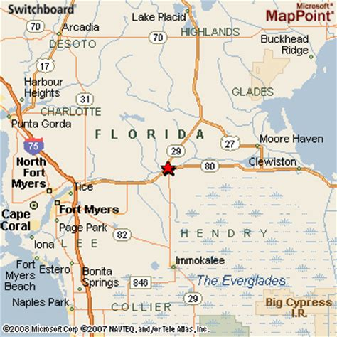where is labelle florida in the map labelle florida