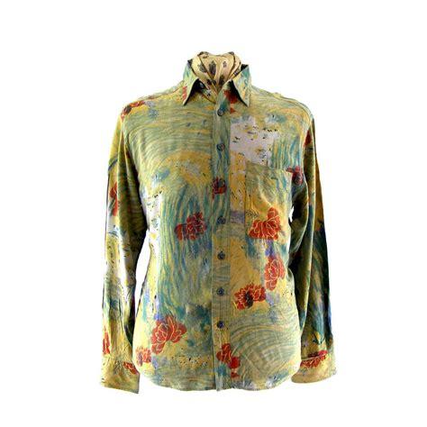80s floral 80s floral print shirt blue 17 vintage fashion