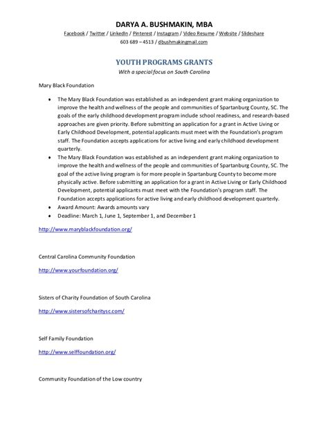 Grants Available For Mba Programs youth programs grants