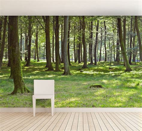 Large Wall Stickers For Living Room woodland forest self adhesive wallpaper by oakdene designs