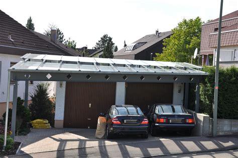 carport verzinkt doppelcarport mit abgestufter glaseindeckung stahlbau n 228 gele
