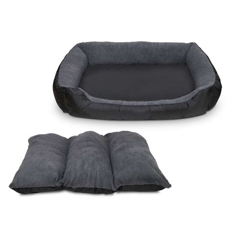 fleece dog bed waterproof fleece lined dog bed large