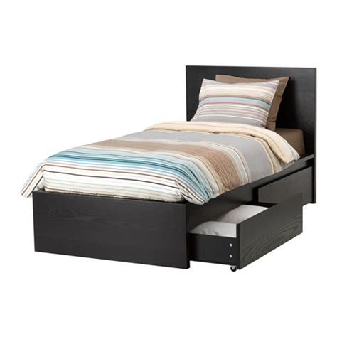 Malm High Bed Frame Review Malm High Bed Frame 2 Storage Boxes L 246 Nset Ikea