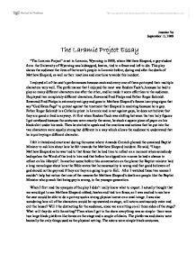Laramie Project Essay by The Laramie Project Gcse Drama Marked By Teachers