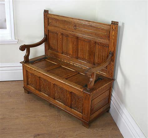 oak settle bench arts crafts 3ft 10 oak settle bench c 1920 antiques