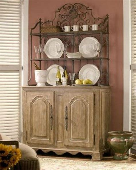 corner bakers rack with cabinet wrought iron bakers rack and rustic wooden cabinet also