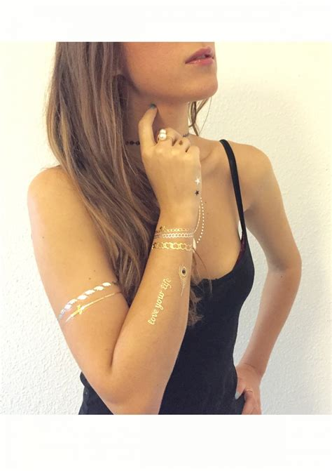 temporary tattoos jewelry gold silver black temporary metallic jewelry tattoos