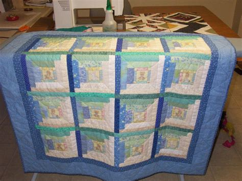 Log Cabin Baby Quilt you to see log cabin baby quilt by sewingnana11