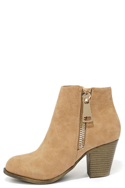 beige boots high heel boots ankle boots 38 00