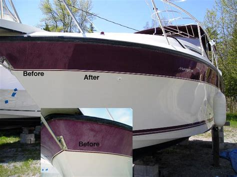 buffing a boat repairs to all makes models of fiberglass wood boats