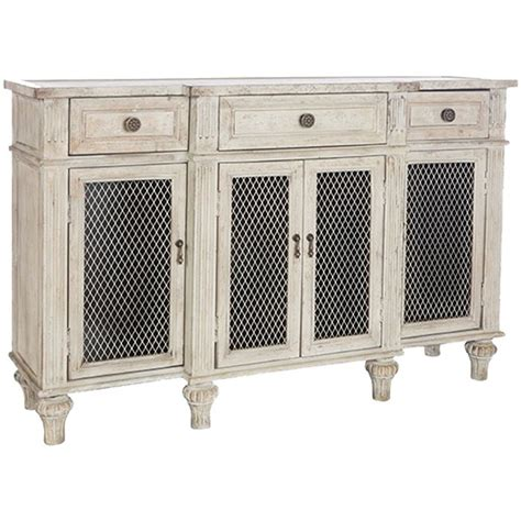French Sideboards White Washed French Country Sideboard Wire Door Fronts