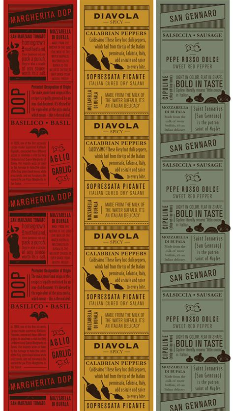 design menus in html antico pizza napoletana the dieline packaging