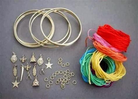 cara membuat gelang india cara membuat kerajinan tangan aksesoris wanita gelang 1