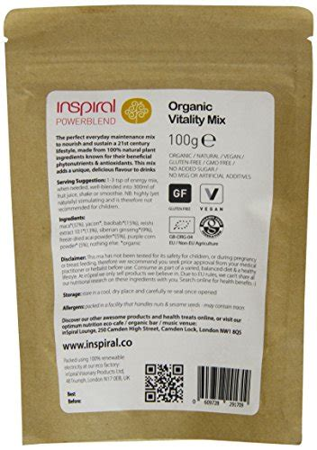 Inspiral Superfoods Detox Mix by Inspiral Vitality Mix Powdered Superfoods