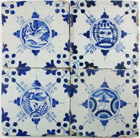 Wainscoting In Bathroom Antique Dutch Delft Wall Tiles With Chinese Gardens In