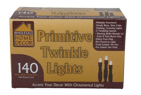 wholesale home decor primitive twinkle lights 26 ft brown