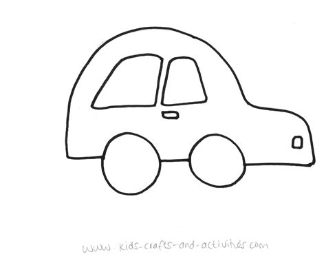 car template printable 6 best images of printable car cutouts printable car cut