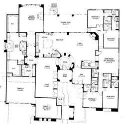 large one story house plans one story 5 bedroom house floor plans