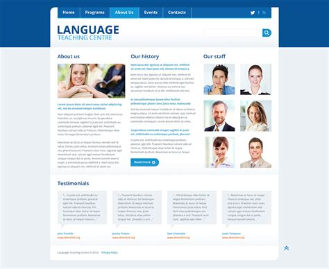 templating language language school responsive website template 45435 by wt