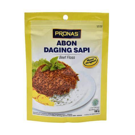 Abon Sapi 100 Halal jual pronas beef floss original 100 g harga kualitas terjamin blibli