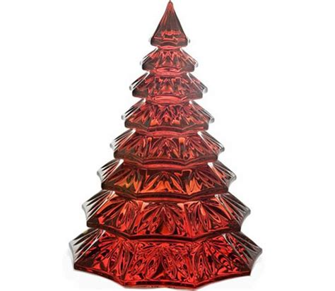 waterford red crystal christmas tree sculpture 145996 new