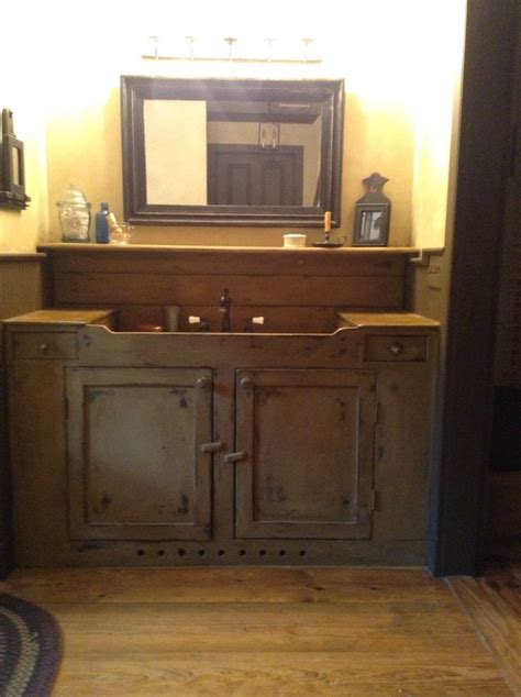 primitive bathroom vanity bathroom vanity prim bathrooms pinterest