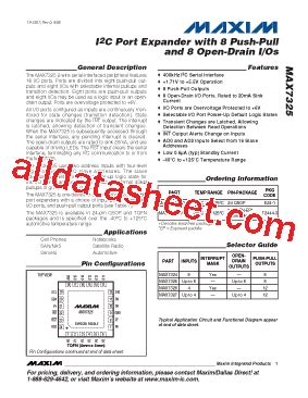 maxim integrated products sec filings max7325 datasheet pdf maxim integrated products