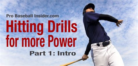 how to generate more power in your baseball swing baseball hitting drills for power part 1 intro video