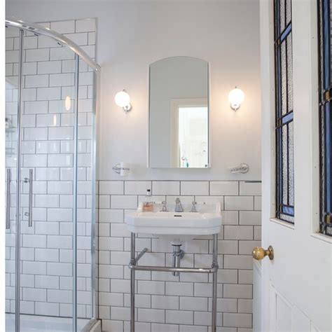 White Tiled Bathrooms by White Tiled Shower Room Bathroom Housetohome Co Uk