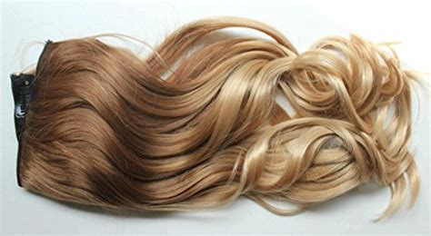 17 19 clip in hair extensions curly wavy brown 2 17 inches 120grams thick one half wavy curly