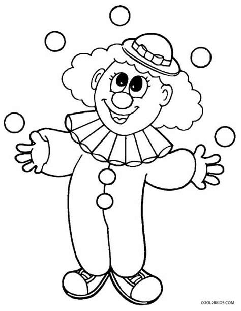 clown template preschool killer clown coloring coloring pages