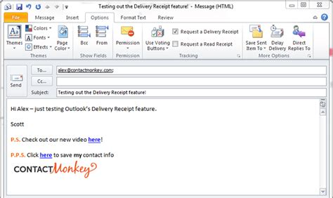 comparing outlook delivery receipt vs outlook read receipt
