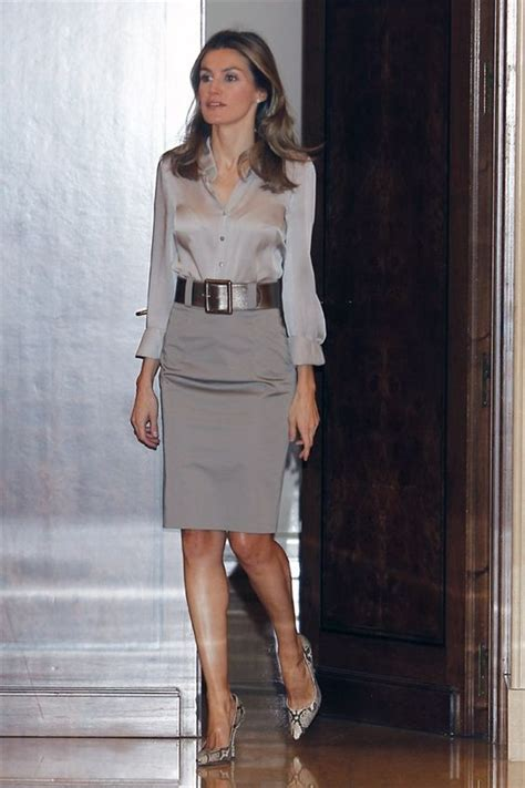 Combine Skirt princess letizia combine shades of grey business style skirts pewter the