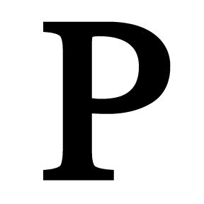 Fire Pit Accessories - wrought iron letter p