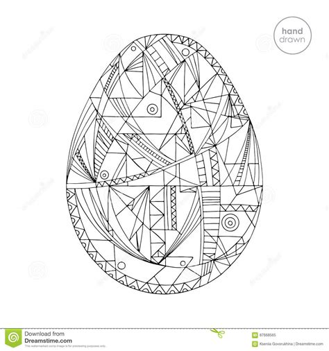 abstract easter coloring pages easter egg vector illustration hand drawn abstract