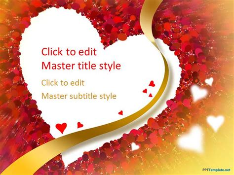 microsoft powerpoint love themes free red heart ppt template