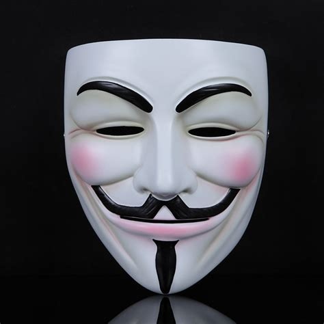 printable anonymous mask cosplay face mask v for vendetta mask anonymous mascara