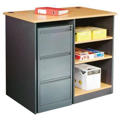 Counter Height Desk With Storage by Office Storage Counter Bench Height Desk Adjustable