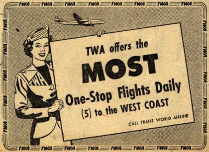 twa the most comfortable way to fly vintage travel and tourism ads of the 1940s page 27