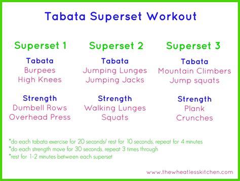 Tabata workout program / Men day program