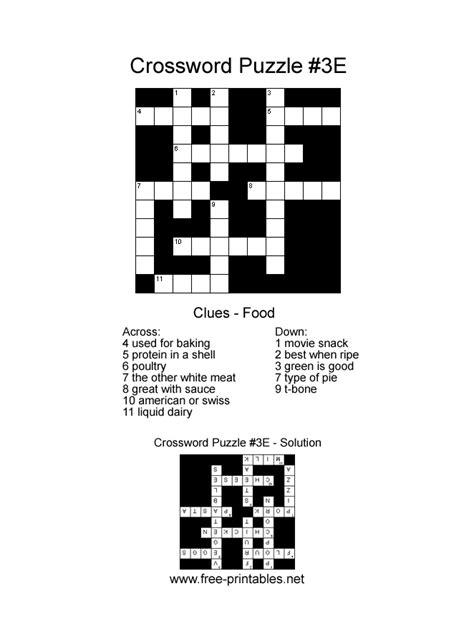 easy printable crossword easy crosswords free easy crossword creative ideas pinterest